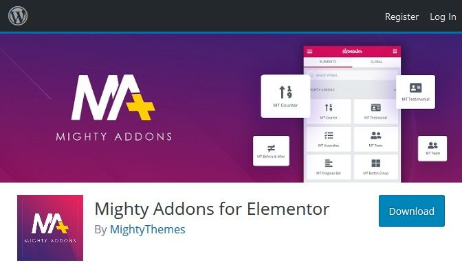 Mighty-addons-for-elementor
