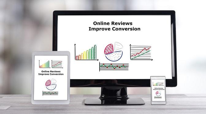 Online reviews improve conversion